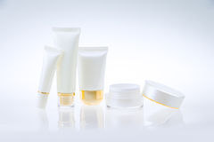 Set of cosmetic containers Stock Image