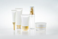 Set of cosmetic containers Royalty Free Stock Image