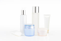 Set of cosmetic containers Royalty Free Stock Photography