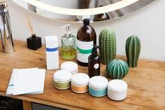 Set Of Cosmetic Cream Jars royalty free stock photos