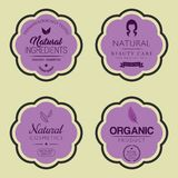 Set of Cosmetic Vector Labels. Set of Cosmetic Labels. Vector illustration Royalty Free Stock Images