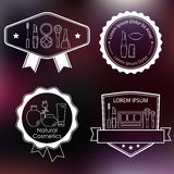 Set of cosmetic and makeup labels Royalty Free Stock Photos