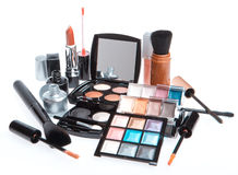 Set of cosmetic makeup products Stock Image