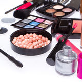 Set of cosmetic makeup products Royalty Free Stock Photography