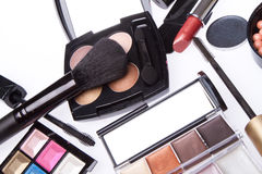 Set of cosmetic makeup products Stock Photography