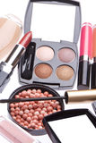 Set of cosmetic makeup products Royalty Free Stock Images