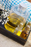 Set of cosmetic oils for a SPA Royalty Free Stock Photo