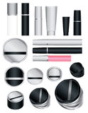 Set of cosmetic packages Stock Photos