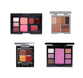 Set of cosmetic palettes. Isolated on white Stock Photography