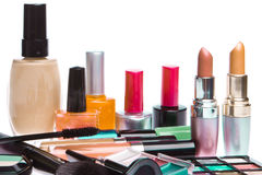 Set of cosmetic products Stock Photography