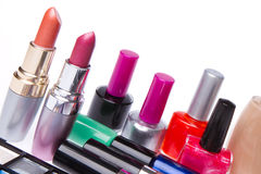 Set of cosmetic products Stock Photo