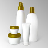 Set of cosmetic products Stock Images