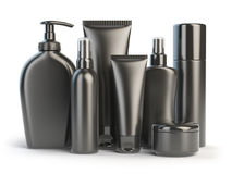 Set of cosmetic products.  Cosmetic series of different daily be Royalty Free Stock Photos