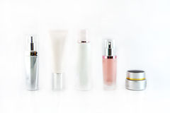 Set of cosmetic products isolated Royalty Free Stock Photo