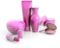 Set of cosmetic products Stock Image