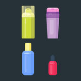 Set of cosmetic tubes isolated vector. Stock Image