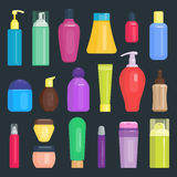 Set of cosmetic tubes isolated vector. Stock Photography