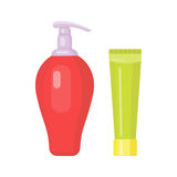 Set of cosmetic tubes isolated vector. Stock Photos