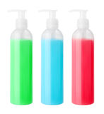 Set of cosmetical bottles Royalty Free Stock Images