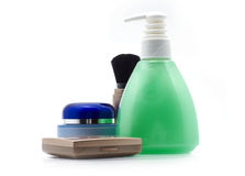 Set cosmetics. Set of bottles with cosmetics, on a white background Royalty Free Stock Photos
