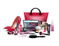 Set of cosmetics on  background Royalty Free Stock Photo