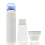 Set of cosmetics containers Stock Photo