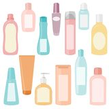 Set of cosmetics containers Stock Image