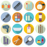 Set of cosmetics icons. Royalty Free Stock Photography