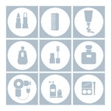 Set of cosmetics icons. vector illustration