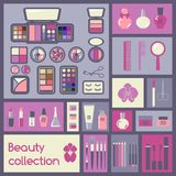 Set of cosmetics icons Royalty Free Stock Photo