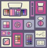 Set of cosmetics icons. Royalty Free Stock Photo