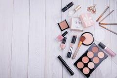 Set of cosmetics and jewellery Stock Photo