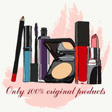 Set of cosmetics Stock Photography