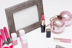 Set is of cosmetics for makeup. Royalty Free Stock Images