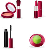 Set of cosmetics makeup. Collection of a few articles of cosmetic set royalty free illustration