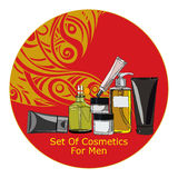 Set of cosmetics for men Royalty Free Stock Image
