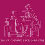 Set of cosmetics Stock Photo
