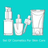 Set of cosmetics for skin care Royalty Free Stock Image
