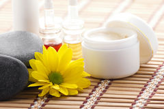 Set of cosmetics and spa accessories Stock Photography