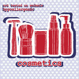 Set of cosmetics. sticker Royalty Free Stock Photos