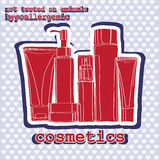 Set of cosmetics. sticker Royalty Free Stock Photo