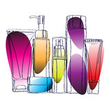 Set of cosmetics Stock Images
