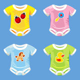Set of costumes for babies Royalty Free Stock Photography