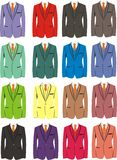 The set of costumes of different colors Stock Photo