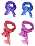 Set of cotton scarfs Royalty Free Stock Photo