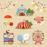 Set of country fair objects stock illustration