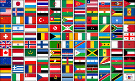Set of 110 country flags. Vector illustration eps 10 royalty free illustration