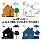 Set of Country Houses Royalty Free Stock Photos
