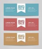 Set coupon banner Stock Photography
