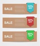 Set coupon banner Royalty Free Stock Image